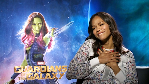 Zoe Saldana Guardians of the Galaxy interview