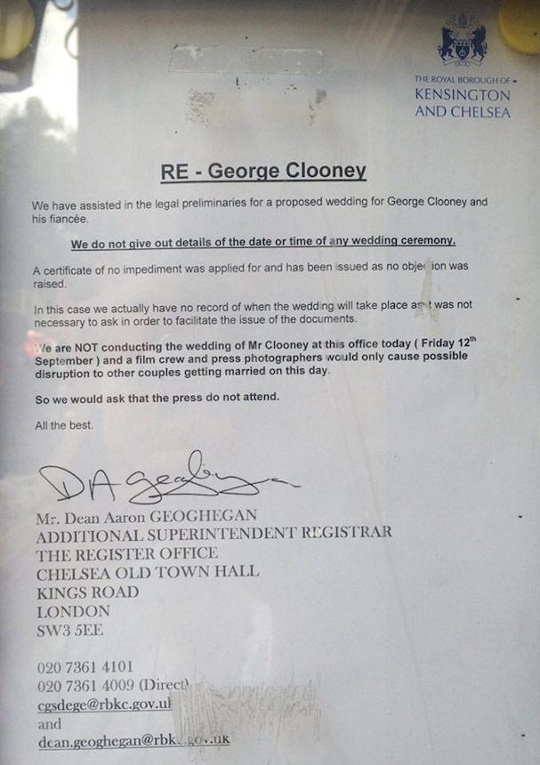 George Clooney Wedding 607