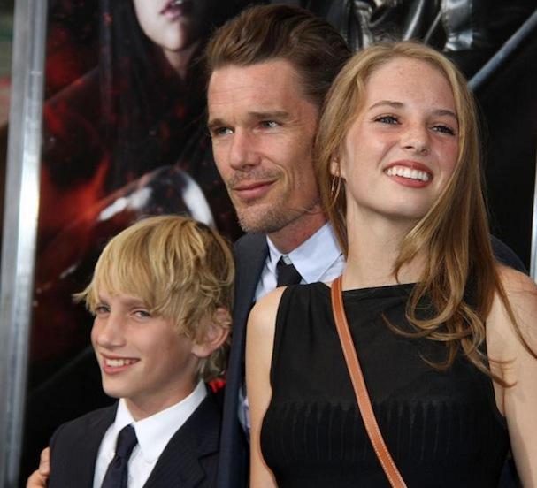 Ethan Hawke & kids