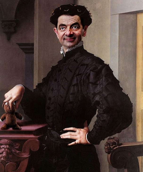 Mr. Bean painting1
