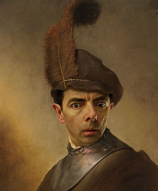 Mr. Bean painting2
