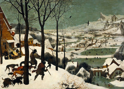 Hunters in the Snow Painting 424