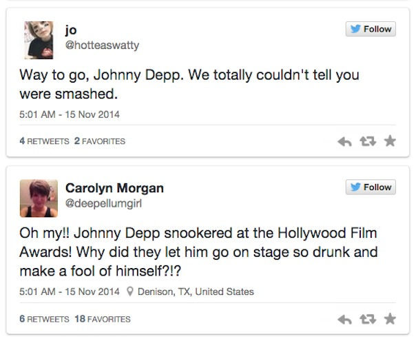 Johnny Depp Drunk twitter reactions2