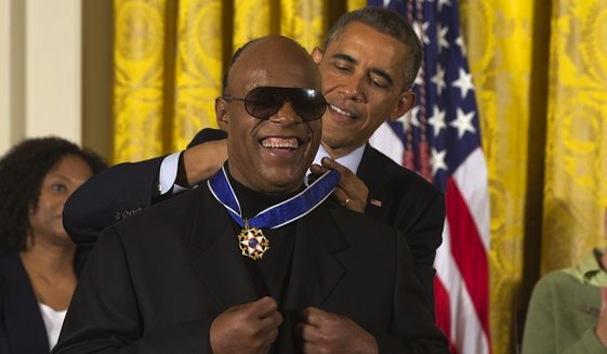 Obama Stevie Wonder