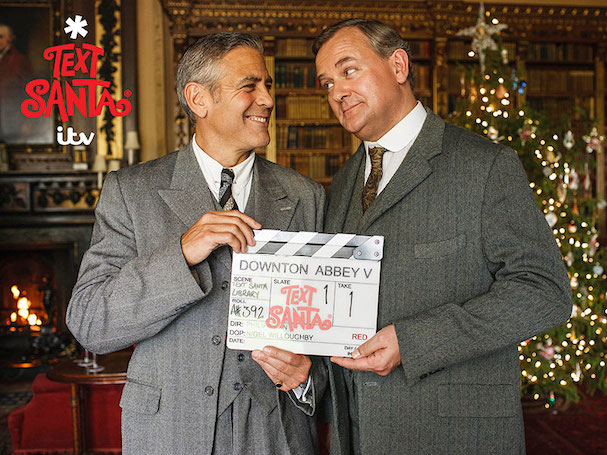George Clooney Downton Abbey Text Santa 607