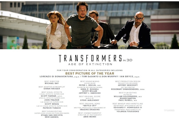 Transformers: Age of Extinction For Your Consideration 607