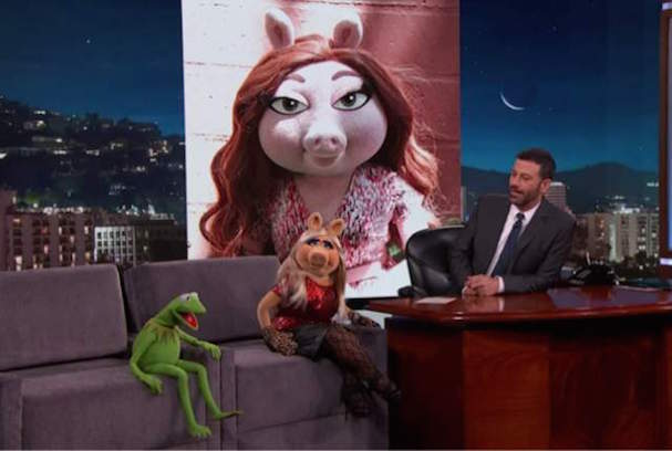 Kermit Miss Piggy Jimmy Kimmel 607