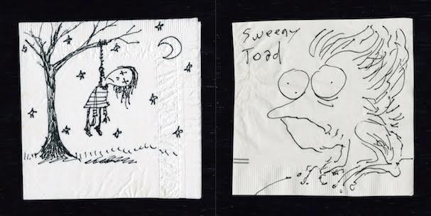 Tim Burton Napkin