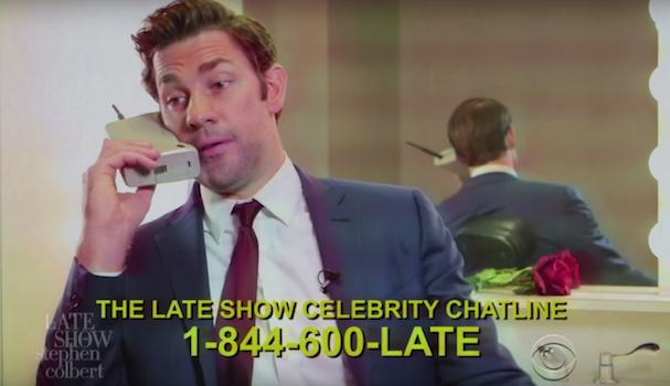 The Late Show's Celeb Hotline 607