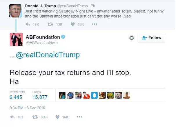 Donald Trump tweet 607
