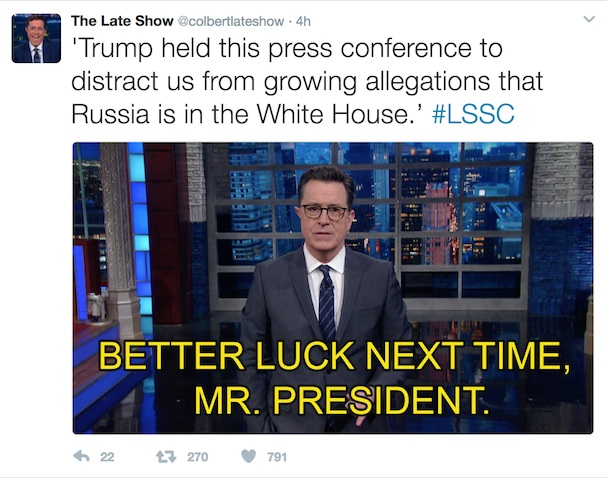 Trump Press Conference Tweet
