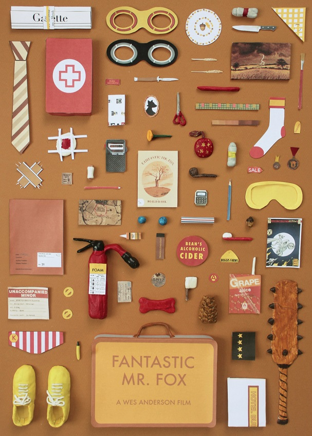 Fantastic Mr Fox Objects Poster 607