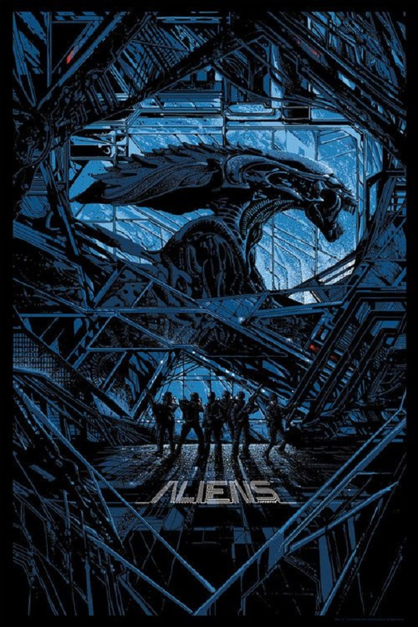 Aliens Poster by Killian Eng
