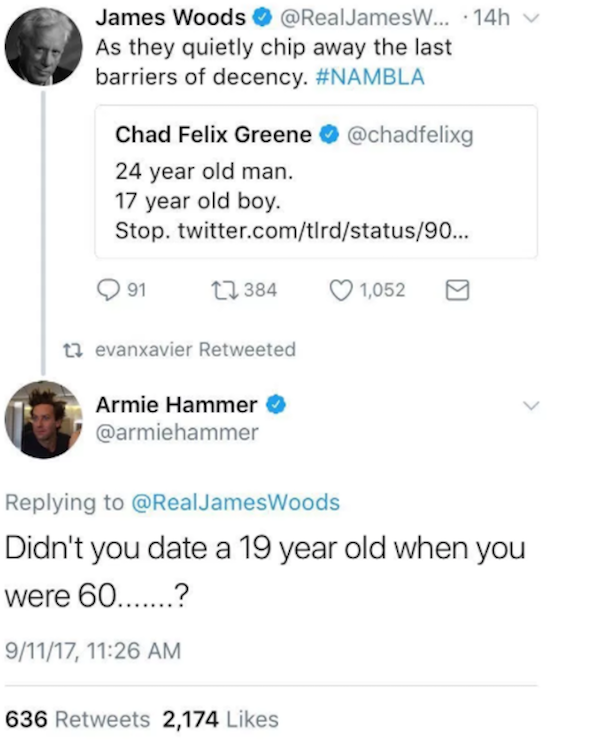 James woods tweet armie hammer 607