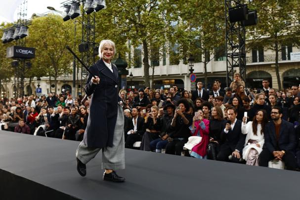 ελεν μίρεν fashion week