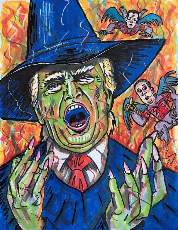 Jim Carrey anti trump portraits 607 7