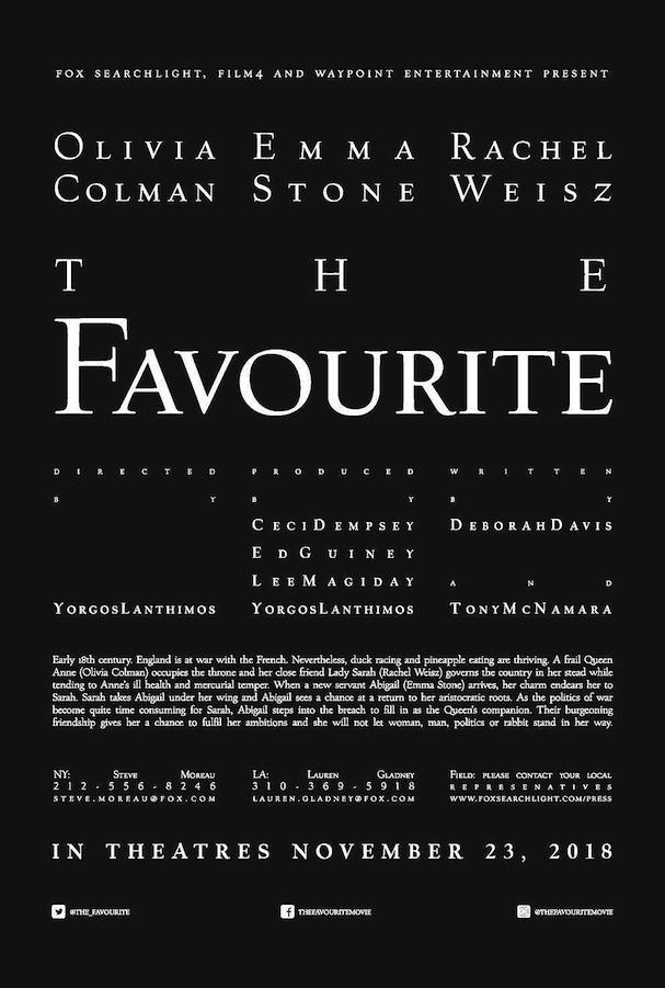 The Favourite Poster 607
