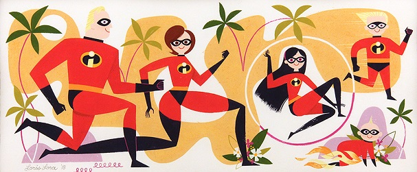 Incredibles 2 Art Show