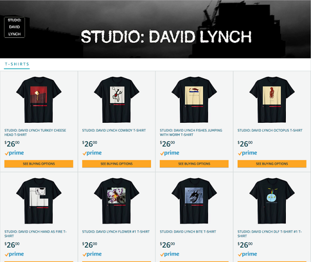David Lynch t-shirts 607