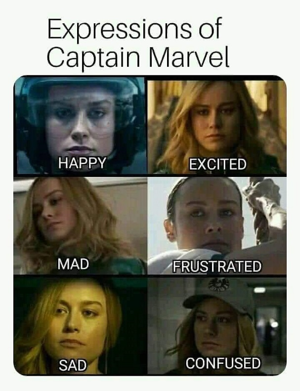 captain marvel expressions 607