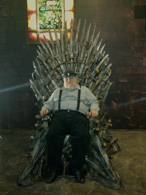 George R R Martin iron throne 607