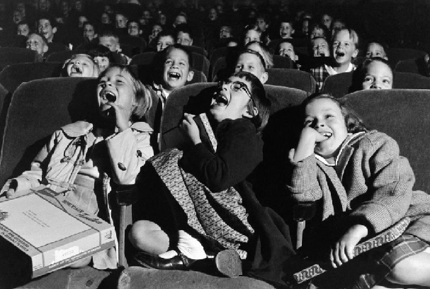 kids at a movie theater 607