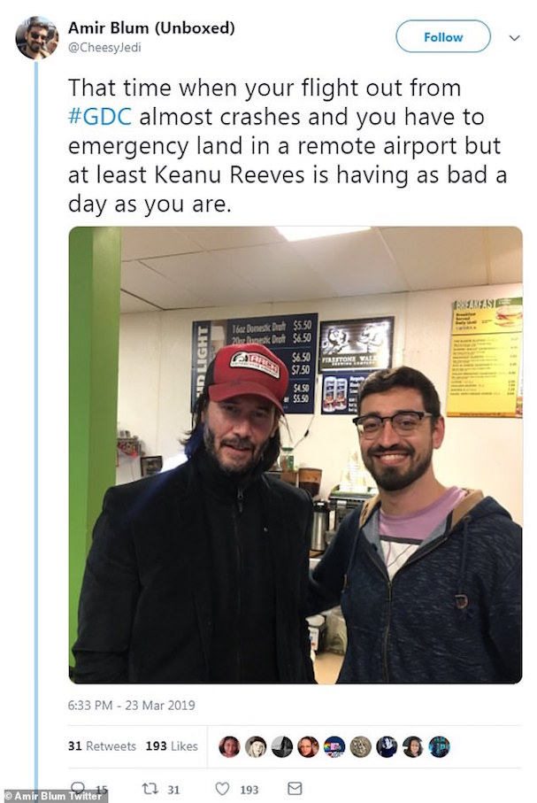 Keanu Reeves bus 607