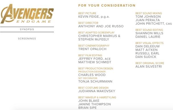 avengers nomination 607