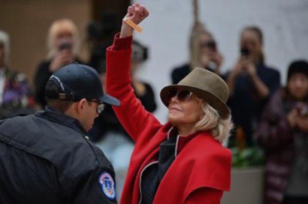 Jane Fonda Red Coat 607 1